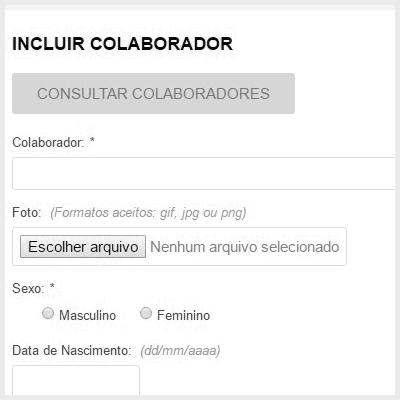 Separação de informações adicionais do cadastro de Colaboradores