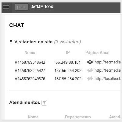 Monitoramento de visitantes em tempo real