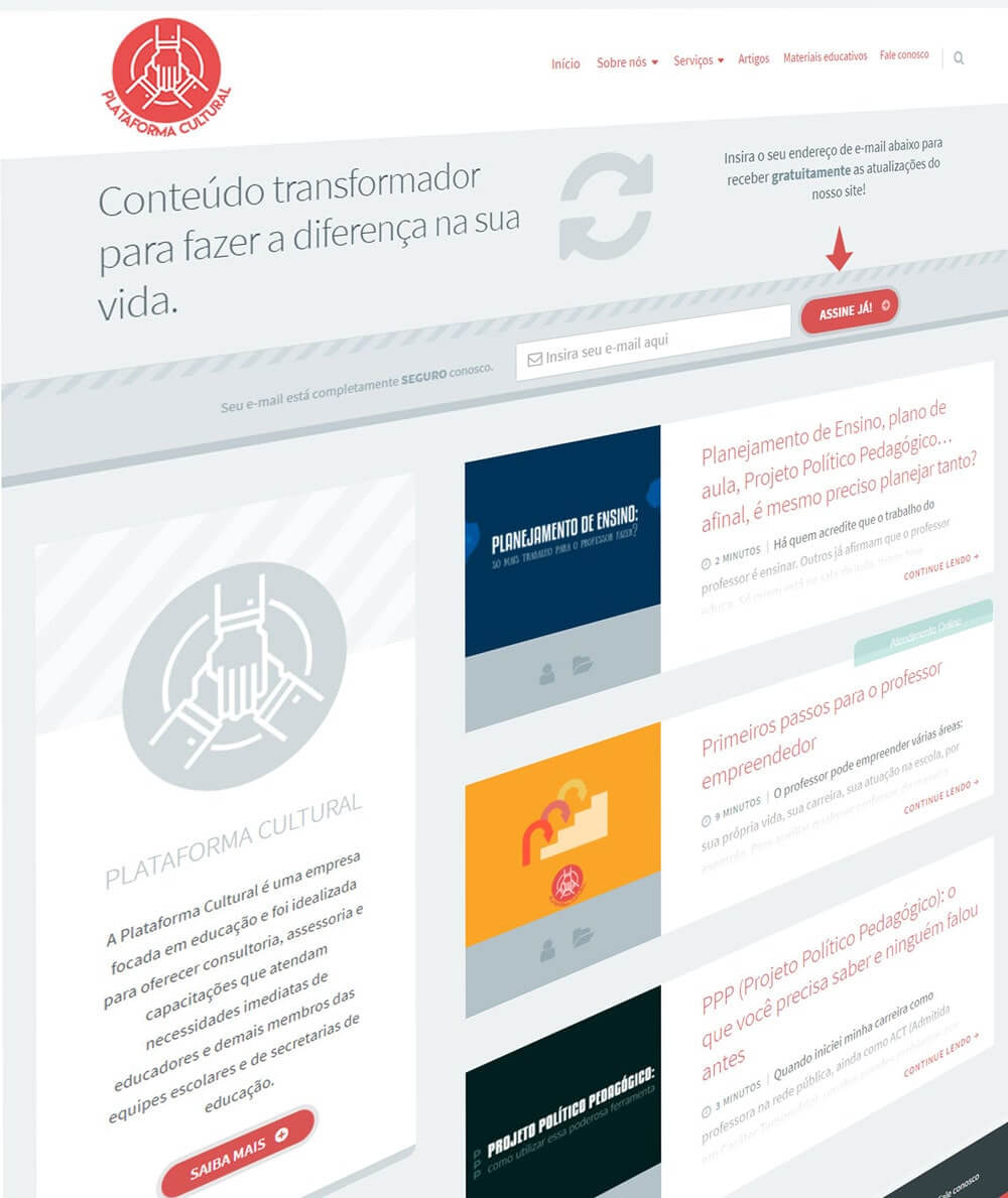 Site Plataforma Cultural